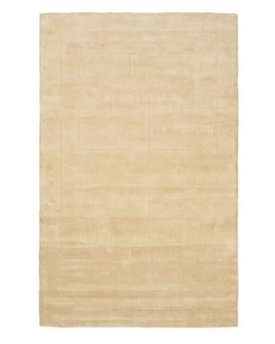 """Handmade Abstract Art Wool Rug, Khaki, 5' 1"""" x 8'"""