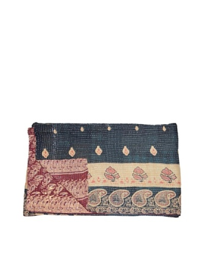 "Large Vintage Chanda Kantha Throw, Multi, 60"" x 90"""