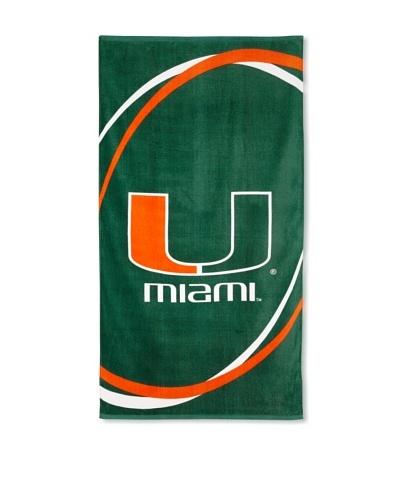 Miami Hurricanes Swoosh Towel, Green