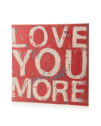 Adriana Gonzales Love you More Giclee on Cork Board