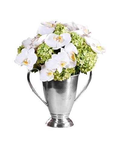 "15"" Orchid/Snowball Urn"