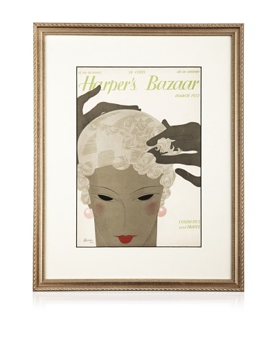 Original Harper's Bazaar cover dated 1932. by Benigni. 16X20 framedAs You See