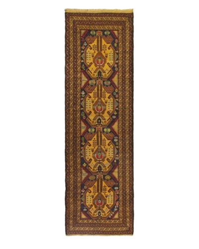 Hand-knotted Royal Balouch Traditional Runner Wool Rug, Navy, 2' 1 x 9' 6 Runner