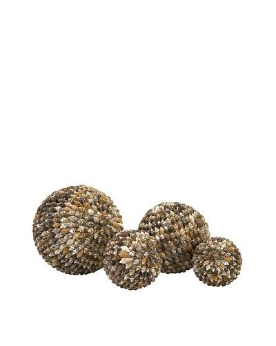 Set of 4 Nasa Shell Deco Balls in NetAs You See