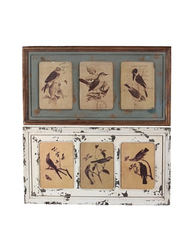 Set of 2 Wood Bird Wall Décor