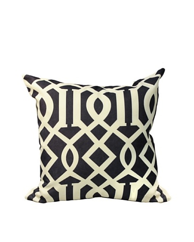 Geo Polysatin Cushion