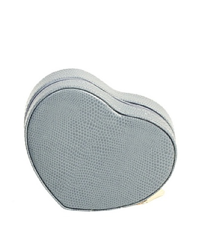 Heart Shaped Travel Jewelry Storage, Blue