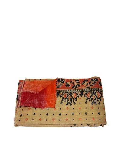 Vintage Kantha Throw Kanti, Multi, 60 x 90