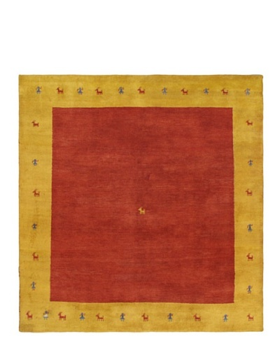 Hand-Knotted Gabbeh Modern Rug, Red, 8' x 8' 4