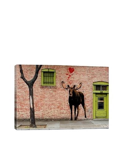 I Love Moose by Rickvez Galardo Giclée on Canvas
