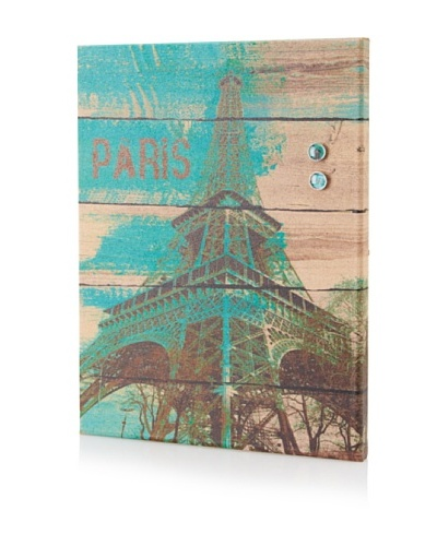 "Irena Orlove ""Teal Eiffel"" Giclee on Cork Board"