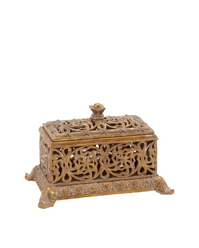 Decorative Scroll Box, Gold