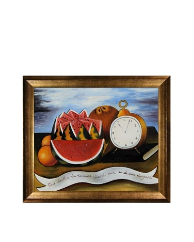 Frida Kahlo's How Beautiful Life Is When It Gives Us Its Riches Framed Reproduction Oil Painting