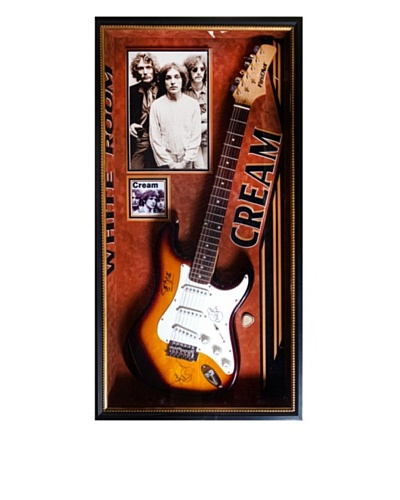 Signed Cream Guitar
