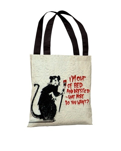 Banksy Out of Bed Tote Bag