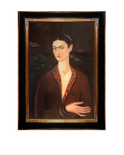 Frida Kahlo's Self Portrait in a Velvet Dress Framed Reproduction Oil Painting