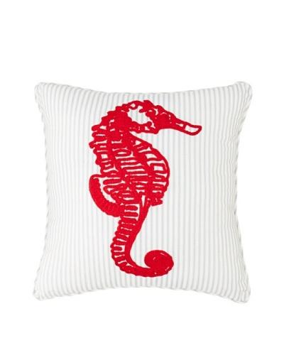 """Sealife Pillow, White/Navy/Red, 20"""" x 20"""""""