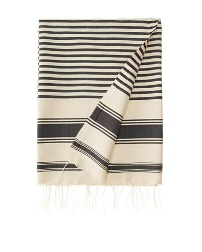 Traditional Fouta Towel, Grey, 39 x 79