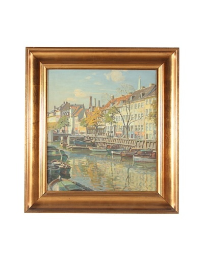 Canal 1930, Christian Frederik Beck Framed Artwork