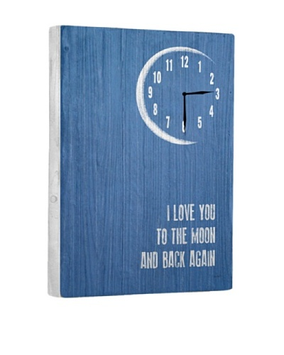 I Love You To The Moon and Back Reclaimed Wood Clock