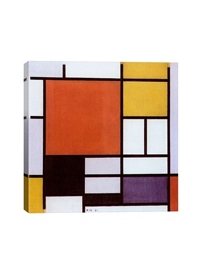 Piet Mondrian's Composition with Large Red Plane, Yellow, Black, Gray and Blue, (1921) Giclée Canvas...