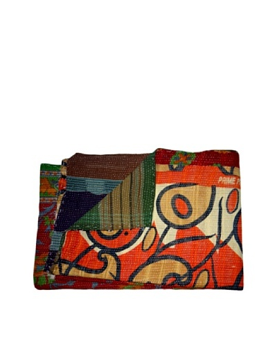 Vintage Kantha Throw Gowri, Multi, 60 x 90