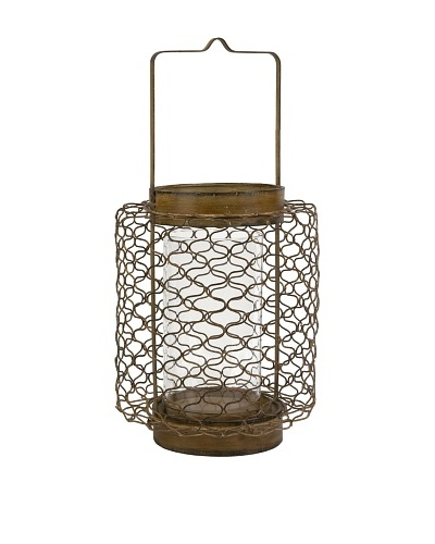 Escate Large Wire Lantern with Glass Hurricane