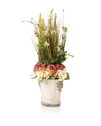 Ranunculus Grass & Vine Pot