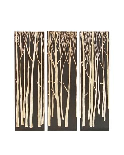Set of 3 Birch Forest Wall Décor