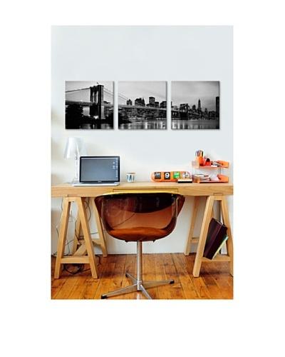 Brooklyn Bridge Panoramic Giclée Canvas Print Triptych