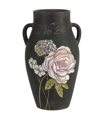 Quinn Large Handpainted Floral Vase