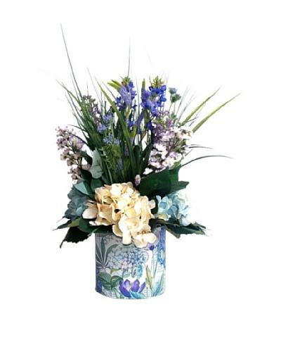 Lilac Hydrangea & Grass [Purple/Green/Creme]