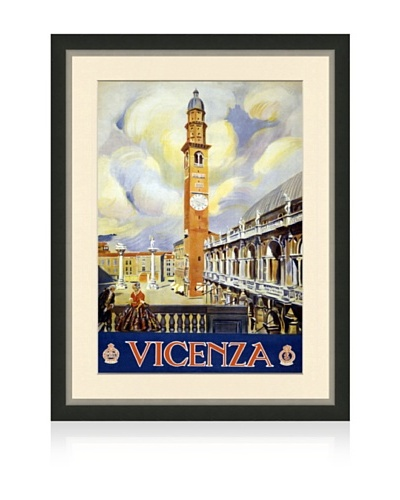 Reproduction Vicenza Framed Travel Poster