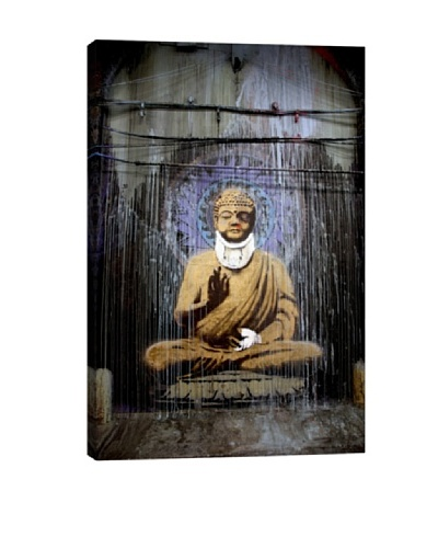 Injured Buddha by Banksy Giclée Canvas Print