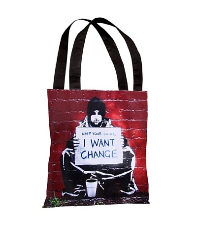 Banksy Keep Your Coins Tote Bag