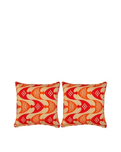 Ocean Current Set of 2 Corded 17 Pillows