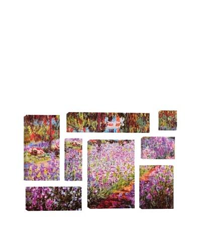 Claude Monet Jardin De Giverny 8-Piece Giclée Canvas Print