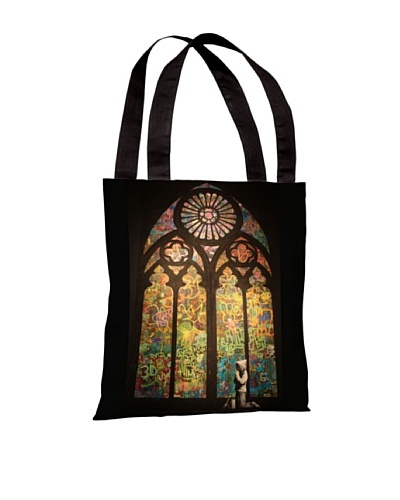 Banksy Stained Glass Window Tote Bag