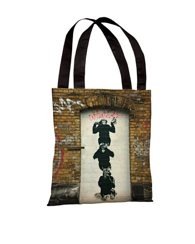 Banksy Monkey Business Tote Bag