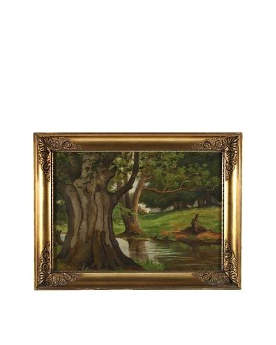 Oak Tree Landscape Framed Artwork