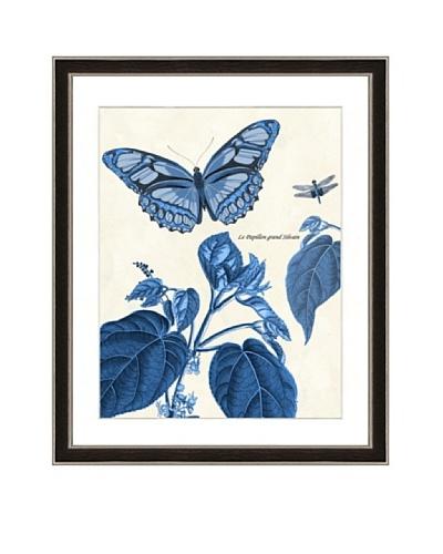 Blue-Toned Garden Scene Framed Giclée Print