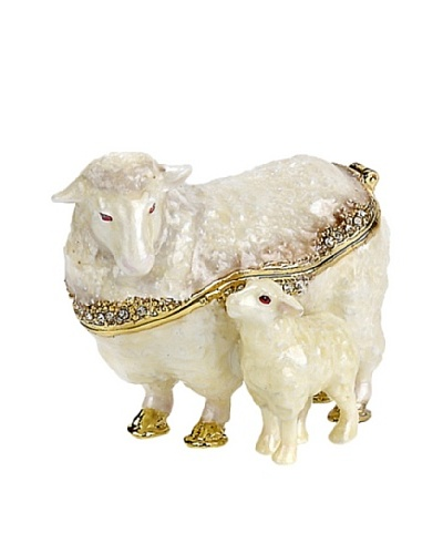 Mom & Baby Sheep Trinket Box