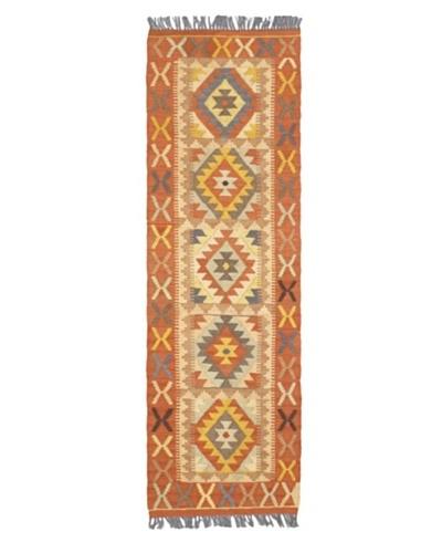 "Istanbul Yama Kilim Traditional Kilim, Copper, 1' 11"" x 6' 3"" Runner"