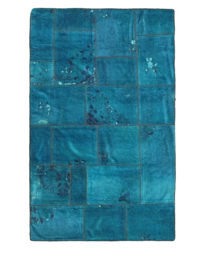 Hand-Knotted Color Transition Wool Rug, Blue, 5' x 8'