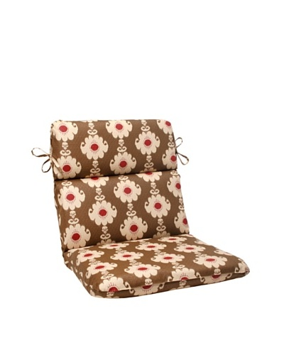Waverly Sun-n-Shade Rise and Shine Henna Chair Cushion [Red/Brown/Tan]