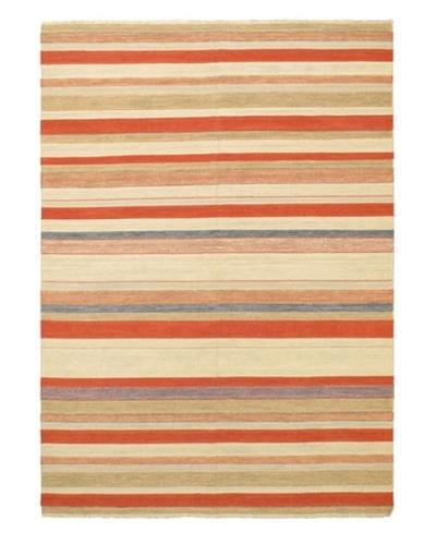 Hand-Woven Kaleidoscope Kilim Rug, Dark Copper/Khaki, 8' 2 x 11' 6