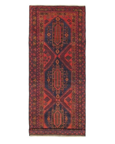 Hand-knotted Kazak Traditional Runner Wool Rug, Red, 4' 9 x 12' 9 Runner