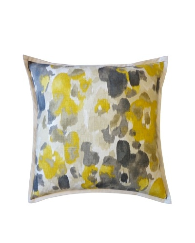 Water Color Throw Pillow, Yellow