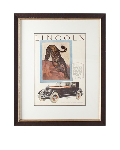 Original French Lincoln Advertisement, 1927