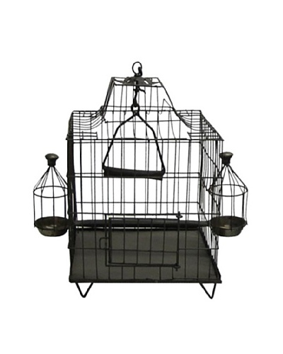 Square Shaped Iron Bird Cage